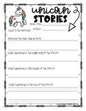 Unicorn Themed Story report