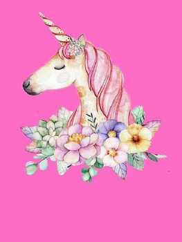 Unicorn Themed Table Signs Editable FREEBIE
