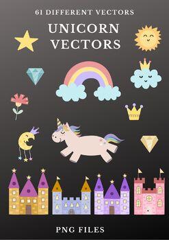 Unicorn Themed Vector Clipart