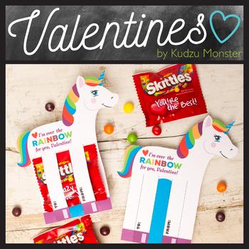 Unicorn Valentine Candy Hugger