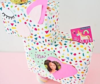 Unicorn Valentine Card Box