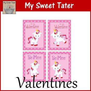 Unicorn Valentines Printable