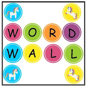 Unicorn Word Wall Headers - Bright and Cheerful