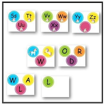 Unicorn Word Wall Headers - Bright and Cheerful