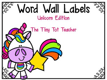 Unicorn Word Wall Labels