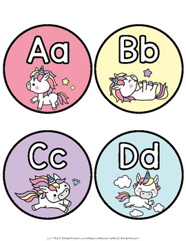 Unicorn Word Wall Letters