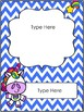 Unicorn Word Wall Letters, Editable Binder Cover & Desk Plates