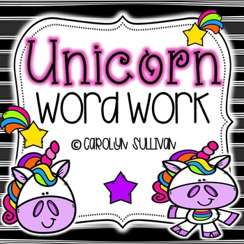Unicorn Word Work for Kindergarten