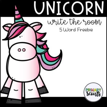 Unicorn Write the Room - Freebie