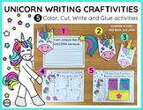 Unicorn Writing Activities and BONUS Writing Paper