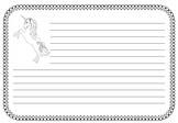 Unicorn Writing Paper