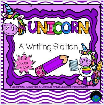 Unicorn Writing Station