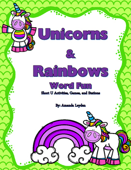 Unicorn and Rainbows Short U