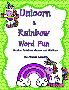 Unicorn and Rainbows Short a Fun