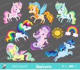 Unicorn clipart commercial use, unicorns rainbow, pony clipart.
