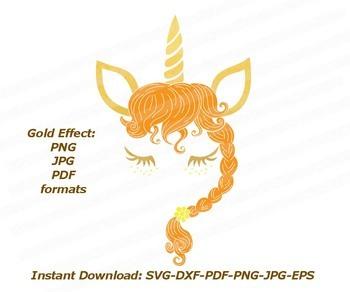 Unicorn face eyelashes svg Cutting design Unicorn face svg Silhouette file