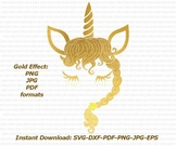 Unicorn face eyelashes svg Cutting design for vinyl cuts