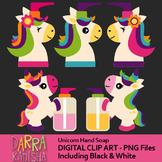 Unicorn hand soap clip art