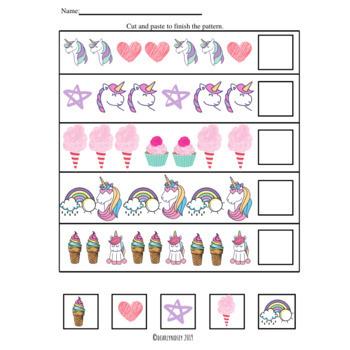 Unicorn math concept bundle