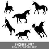 Unicorn shapes, printable unicorn clipart, unicorn vectors