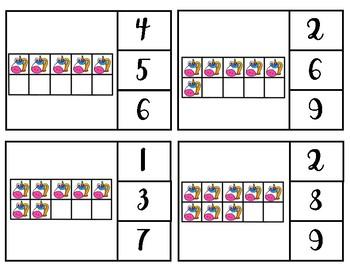 Unicorn ten frame clip cards (1-20)