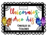 Unicornios Arcoiris - Cartelles de Colores Básicos