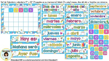 Unicornios - Set de calendario II