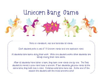 Unicorns Bang Game