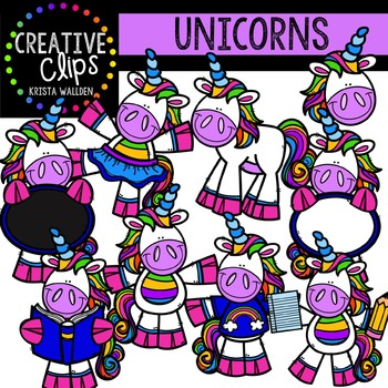 Unicorns {Creative Clips Digital Clipart}