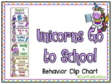 Unicorns Go to School | Behavior Clip Chart