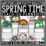 Digital Spring Writing Prompts 3rd, 4th Grade & Spring Activity Bulletin Board