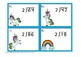 Unicorns Long Division by 2 Task Cards