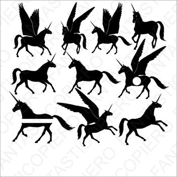 Unicorns SVG cutting files for Silhouette Cameo and Cricut.