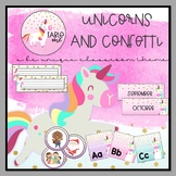 Unicorns and Confetti Classroom Decor Set One