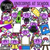 Unicorns at School Clipart {Creative Clips Clipart}