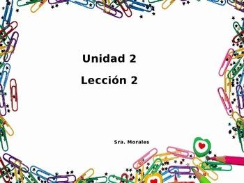 Unidad 2 Leccion 2 Vocabulary -Avancemos 1