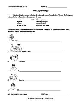 Unidad 3 Etapa 1 Level 1 Homework Packet by Wendy Campos | TpT