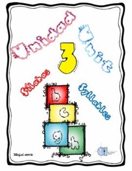 Silabas con letras b, c, g, h. Unidad 3 Unit 3