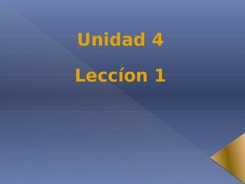 Unidad 4 Leccion 1 Vocabulary -Avancemos 1