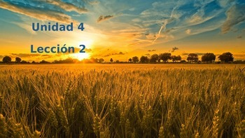 Unidad 4, Leccion 2 Vocabulary - Avancemos 2