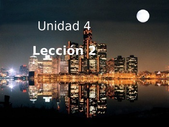 Unidad 4 Leccion 2 Vocabulary - Avancemos 1