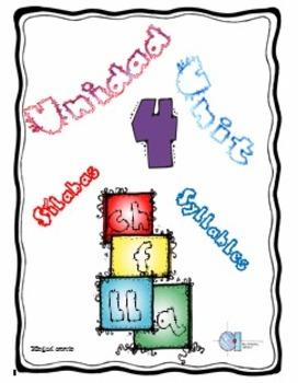 Silabas con letras ch, f, ll, q. Unidad 4 Unit 4