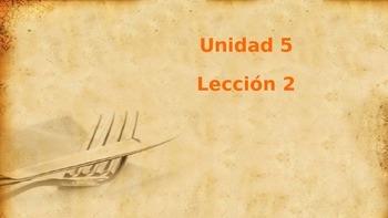 Unidad 5, Leccion 2 Vocabulary - Avancemos 2