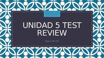 Unidad 5 Test Review