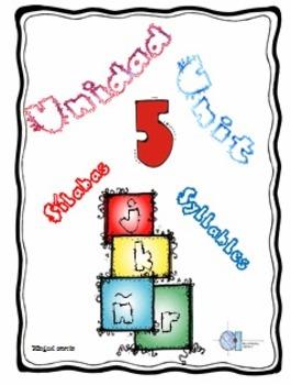 Silabas con letras j, k, ñ, r. Unidad 5 Unit 5