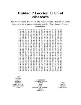Unidad 7: En el cibercafe