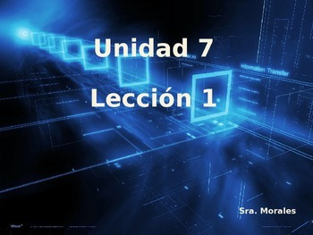 Unidad 7 Leccion 1 Vocabulary -Avancemos 1