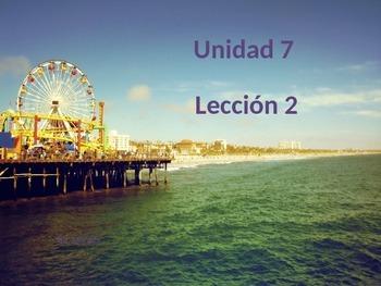 Unidad 7 Leccion 2 Vocabulary -Avancemos 1