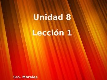 Unidad 8 Leccion 1 Vocabulary - Avancemos 1
