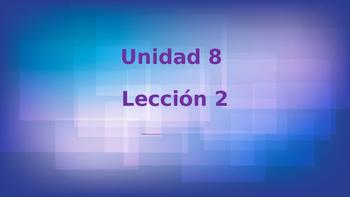 Unidad 8, Leccion 2 Vocabulary -  Avancemos 2